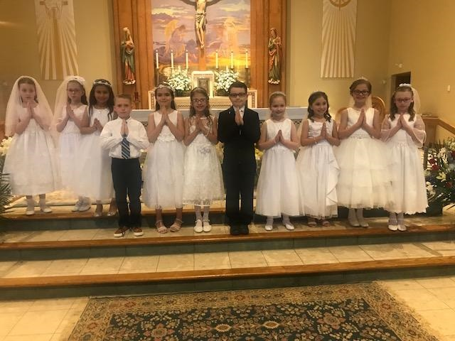 First Communion on May 4