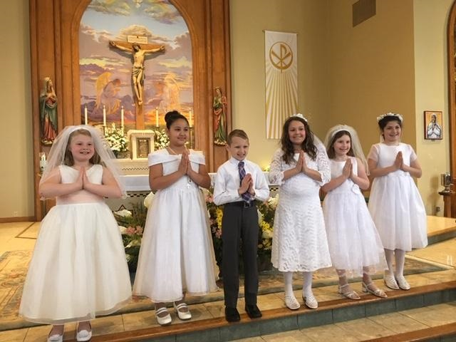 First Communion on May 5